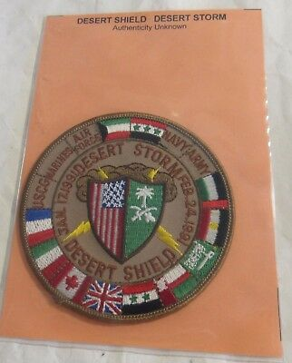 Desert Storm Shield Military Patch USGC Marines Air Force Navy Army Allies