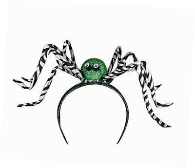 fabric halloween spider hat head bands - green