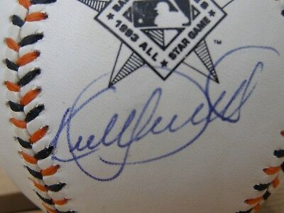 Signed Kirby Puckett 1993 Official All Star Game Baltimore Orioles Baseball