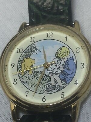 RARE Vintage Timex Classic Winnie The Pooh Christopher Robin Watch
