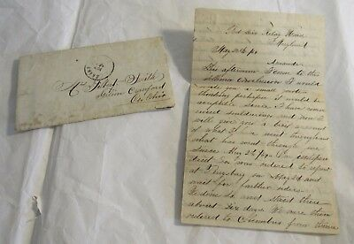 1864 Civil War Letter Captain PW Hathaway 144 Regiment Co. K Fort Dix Maryland