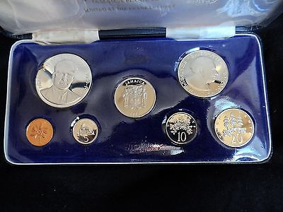 1971 Jamaica Proof Set of Coins with Case COA
