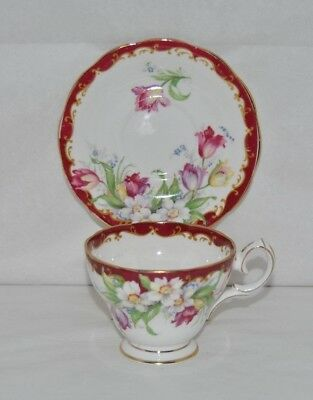 """Beautiful Vintage, Bell China """"Narcissus"""", Fine Bone China,Tea Cup and Saucer"""