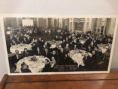 "1944 WWII Army/Navy ""E"" Production Award Banquet Photo Railley Co. Cleveland OH"
