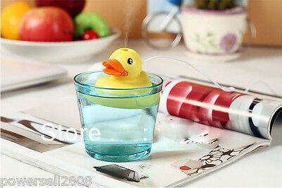 New Household Atomizer Cute USB Humidifier Floating Yellow Ducky Air Humidifier