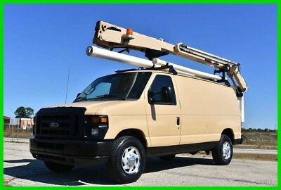 2009 Ford E-Series Van Commercial 2009 Ford E-350 Boom Bucket Truck 29 ft Height - Low Reserve!