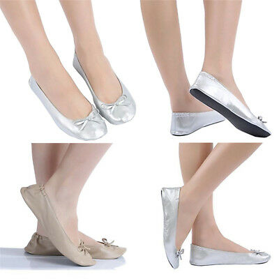 Comfort Roll Up Fold Pumps Flats After Party Shoes Pocket Foldable Dancing Shoes