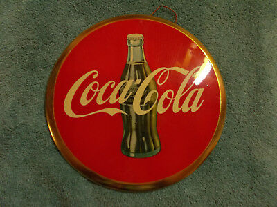 SCARCE—1950's Celluloid Coca Cola Button Sign