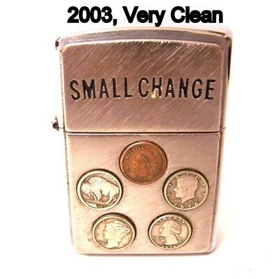 2003 Zippo, '' Small Change'' Lighter is possibly Un-Struck & Un-Carried