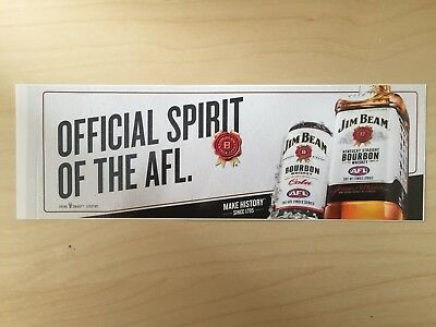Jim Beam Bourbon new AFL sticker decal for bar, man cave, collector