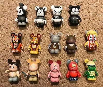 Lot of 14, Disney Vinylmation, 3 inch, Classic Collection, Star Wars,Lion King