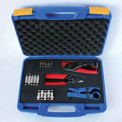 AG Cables Compression Tool Kit to Create Coaxial RCA or BNC Cables