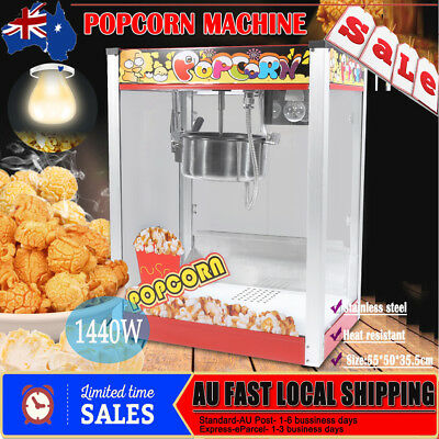 New 8OZ Commercial Household Popcorn Maker Machine Cooker Stainless Steel Pot AU