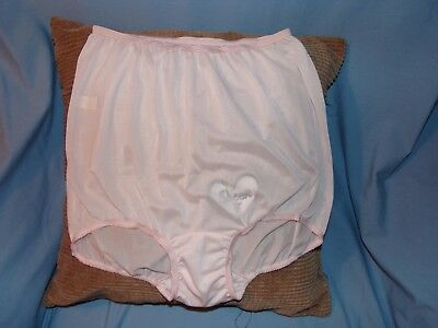 Vintage Silky Nylon Pink Bubble Brief Panty size 6 nos paper thin and silky