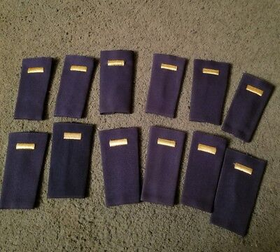 Lot of 12 USAF 2nd LIEUTENANT Rank Large Epaulets Shoulder Badges (For Male)
