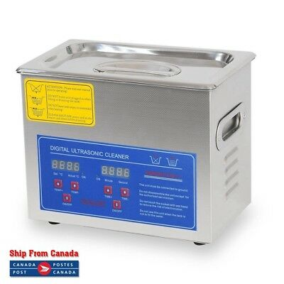 3L Digital Stainless Steel Ultrasonic Cleaner w/ Heater Timer PS-20A Industry