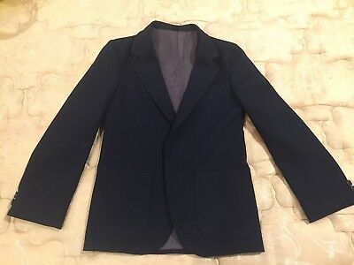 Boys Navy Blue 3-piece Suit Vest Pants and Jacket Size 9-10 Jonathan Michael