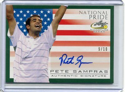 2017 Leaf Signature Series Pete Sampras National Pride Green Auto #ed 9/10