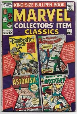 First 5 Marvel Collector's Item Classics (Feb 1965 to Oct 1966) CBPG 6.0 +/-