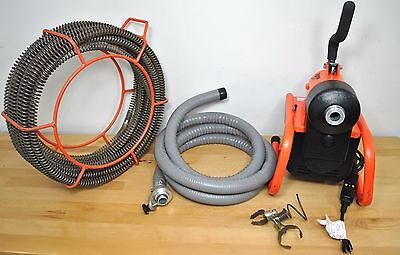 General Wire Drain Snake I-95-C Plumbing Tools w/ Sectional Cable Excellent Cond