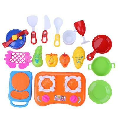 17pcs Kitchen Cooking Toy Children DIY Plastic Educational Role Play Kids  #EAL