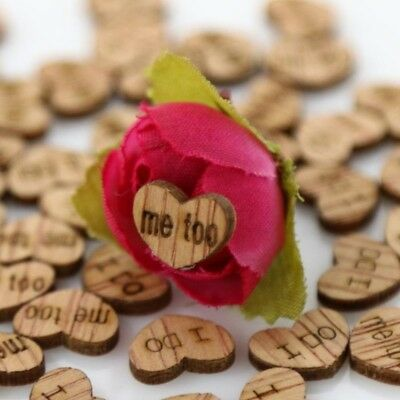 100Pcs Love Heart  I DO ME TOO Wooden Table Confettis Wedding Party Accessories