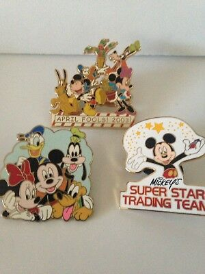 Disney Pins 1 Mickey And 2 Mickey And Friends Pins