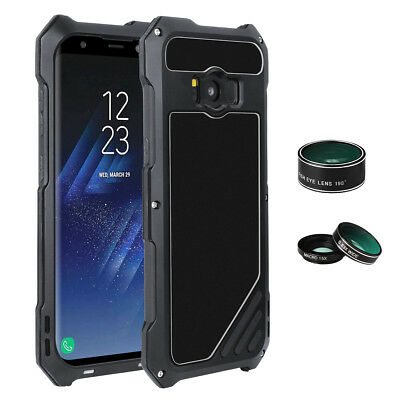 For Samsung Galaxy S8 &Plus Wide Angle Macro Fisheye Camera Lens 3IN1 Metal Case