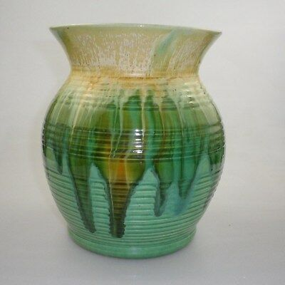 Large Remued Big Barrel Shaped Vase With A High Flaring Conic Collar