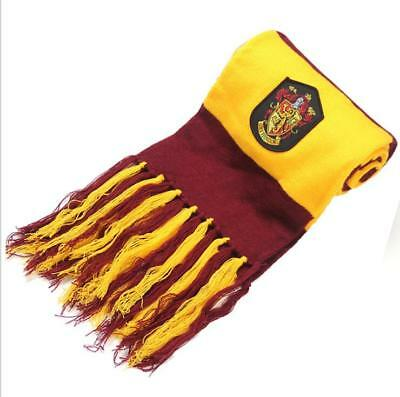 Harry Potter Gryffindor House Scarf Knit Shawl Wrap Winter Scarf Hollaween Gift