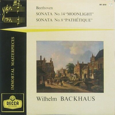 Wilhelm Backhaus Beethoven sonata No 14 Moonlight , No 8 Pathetique 10""