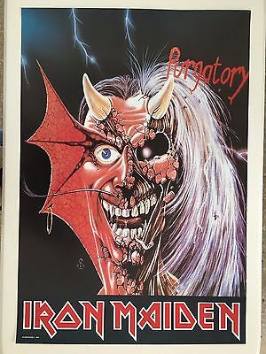 Iron Maiden,eddie,purgatory,mega Rare Authentic 1981 Poster