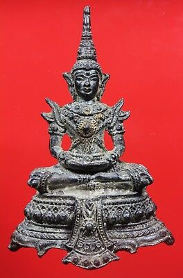Old Thai Buddha Ayutthaya Genuine,Thai Amulet,Rich Luck.Good Business.