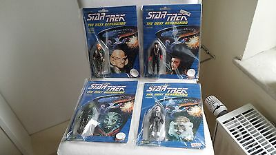 "STAR TREK Galoob  3 3/4"" Figurenset FERENGI * Q * SELAY * ANTICAN  ^^^^ OVP"