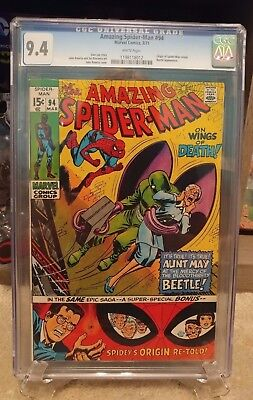 The Amazing Spider-Man Issue 94 9.4 CGC WHITE Pages