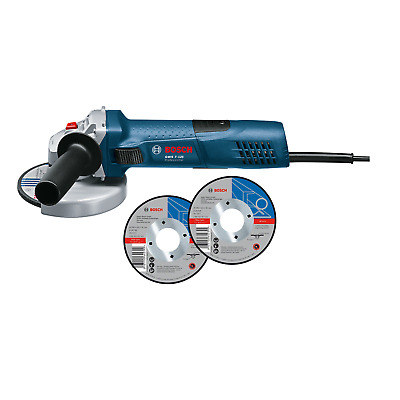 Used Bosch Blue 720W 125mm Angle Grinder With 3 Discs