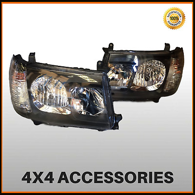 Altezza Black Head Light Set for Toyota Landcruiser 100 Series 1998-2005