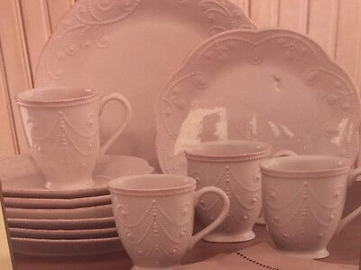 Lenox French Perle White 12 Piece Set Place Setting by Lenox New