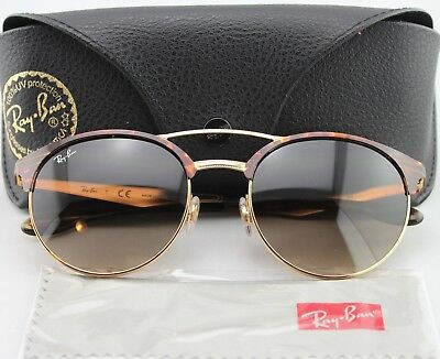 164c3e7a5af NEW RAY BAN RB 3545 9008 13 Gold Havana Frames Brown Lens Sunglasses ...