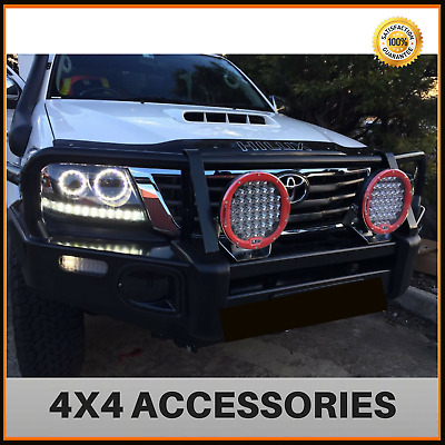 Black Angel Eye Projector Head Lights for Toyota Hilux 2005-2011