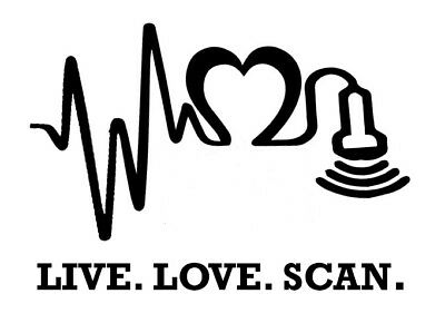 Ultrasound Tech Decal Sticker Medical Sonographer