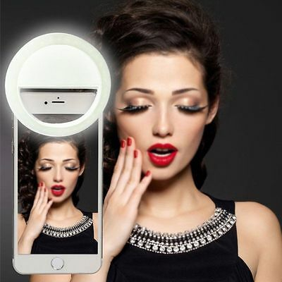 Selfie Portable Fill LED Light Ring Camera Photography Fit iPhone Cell Phone