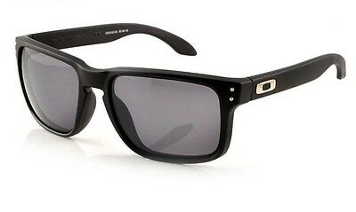 NEW Oakley Holbrook POLARIZED matte black gray lens 100% genuine or money back
