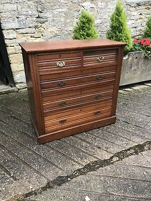 Edwardian Antique Bedroom Chest of Drawers on Plinth Base