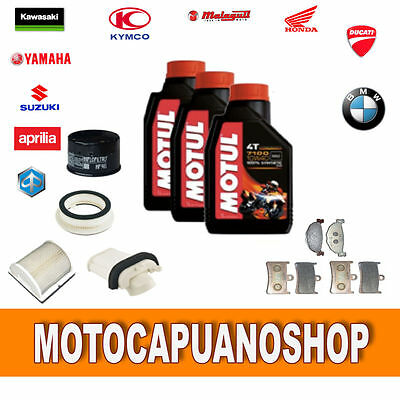 Replacement Kit Yamaha T Max 500 2006 Oil Motul 7100 Filters Pads