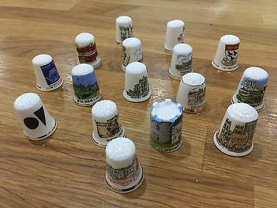 Various Lot Collectable Thimbles Collection of 16