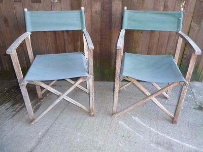 Pair Of Folding Directors Chairs Folding Chair Wooden Garden Furniture