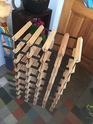 32 Bottle Timber Wine Rack -   - Your Complete Home Wine Storage