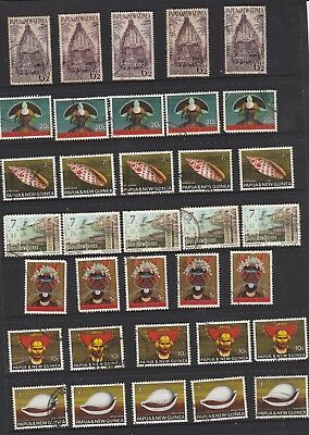 Papua New Guinea 13 Lots of 5  PNG used Stamps see photos 65 Stamps