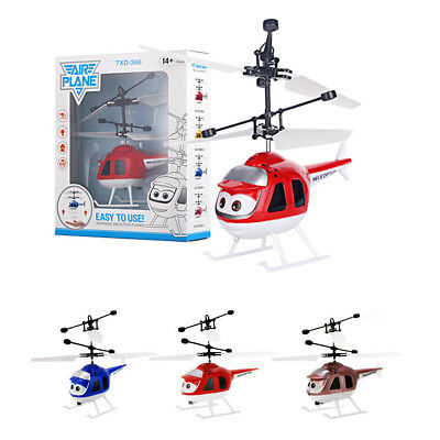 Budgie Flying Helicopter RC Plane Hand Sensor Toy Gift Kids Cartoon LED Helly AU